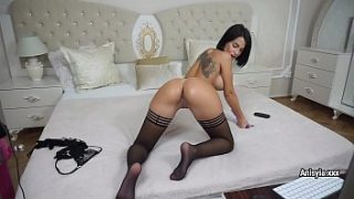hot brunette anisyia loves anal games with sex toy