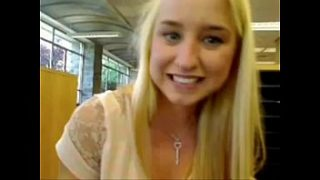 Blond girl squirts in public school – more videos of her on freakygirlcams.co.uk
