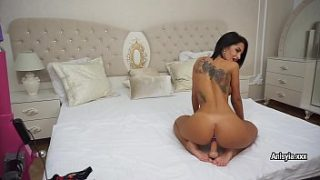 hot brunette anisyia plays with sex toys