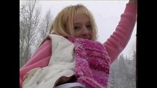 2 Blonde Teen Masturbations Outside in the Snow – Thievery Corporation